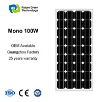100W Mono PV Power Photovoltaic Solar Module Panel