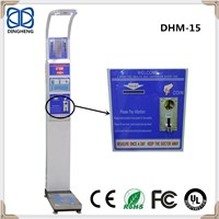 DHM-15 Coin Currency Ulstrasound Probe for Height Measuring Body Coin-Operated Weight & Height Scale