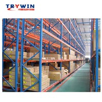 Carrying Capacity Galvanized Sheet Department Store Mobile Shelving Unit for Logistic Warehouse