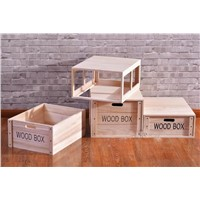 Paulownia Wood Storage Box Set with Lid