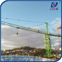 10tons Load 65m Jib Arm Model QTZ125 TC6515 Construction Hammer Head Tower Crane