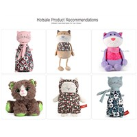 Wholesale Big Eyes Soft Baby Doll Custom Lifelike Stuffed Animals Cats Bulk Plush Cat Toys for Kids
