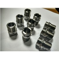 Titanium Alloy Lasor Nuts Made by Turning & Milling Compound Machining