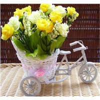 Flower Basket, Tricycle Flower Rattan Basket