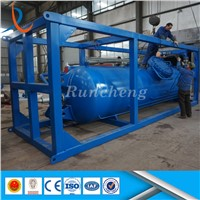 Skid Mounted Oilfield Stainless Steel Buffer Tank / High Pressure Buffer Tank