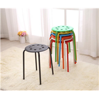 PP PLASTIC BAR STOOL with METAL LEGS