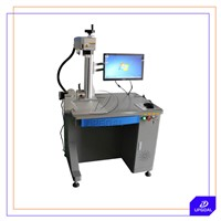 20W Aluminum Material Fiber Laser Marking Machine with Rotary Clamp
