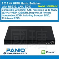 8 X 8 4K HDMI Matrix Switcher with RS232