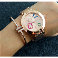 Wholesale Stainless Steel Quartz Brand Lady Wrist Watch Women