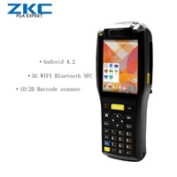 3.5 Inch Android Wireless Barcode Scanner with Printer, Handheld PDA, Mobile Data Terminal ZKC3505