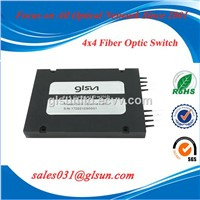 GLSUN 4x4 Multi-Channel Fiber Optical Switch