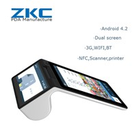 ZKC900 GPRS 3G WiFi Android Tablet PC POS Terminal with Integrated Thermal Printer