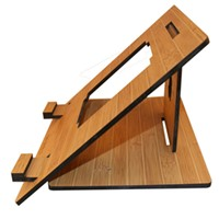 Foldale Light Weight Bamboo Wood Stand for Tablet PC