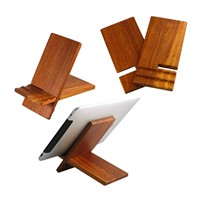 Wood Display Stand for iPad & Android Tablet PC