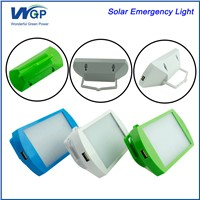Rechargeable LED Solar Emergency Light with Mobile Phone Charger