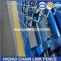 4m Width Double Wire Feeding Fully Automatic Chain Link Fence Making Machine