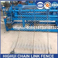 2m Width Double Wire Feeding Fully Automatic Chain Link Fence Machine