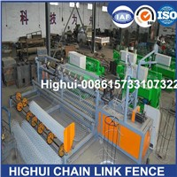 2m Width Full Automatic Double Wire Feeding Chain Link Fence Making Machine