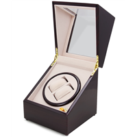 CHIYODA Handmade Double Watch Winder with Quiet Mabuchi Motor