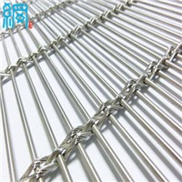 Architectural Woven Metal Wire Mesh Facades-Barrette Weave/Cable Mesh System