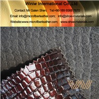 Custom Embossed Faux Leather Upholstery Fabric PU Microfiber Leather