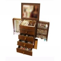 China Pinsidea Walnut Wooden Jewelry Chest