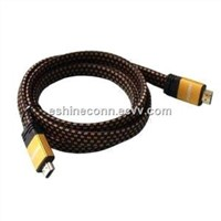 1.4V HDMI Flat Cables, Braid Double Color, High Speed with Ethernet 3D, to DVD, HDTV, Sony's Game PS