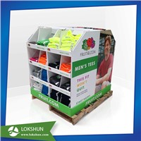 OEM/ODM US Standard Cardboard Pallet Display with 4 Sides for Demonstrating Products, PDQ Displays
