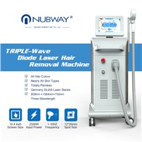 2018 Newest Model CE Approval Triple Wave 1064nm 755nm 810nm Diode Laser for Hair Removal