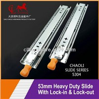 53mm Heavy Duty Drawer Slide with Lock-in & Lock-Out