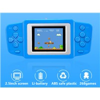 Classic FC 268games 2.5inch Bright Display Portable Games Players Handheld Game Console Support both Li-Battery & AA