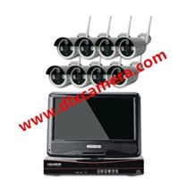1080P HD 8ch Plug & Play 10 Inch LCD Screen Wireless NVR Kit CCTV System WiFi IP Camera Outdoor IR Security Camera