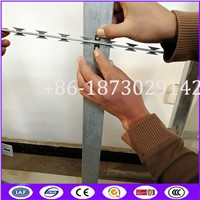 BTO-22 2 Meter Length Straight Line Razor Concertina Wire