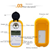DR501 Electronic Human, Cat & Dog Urine Hydrometer Refractometer, Large LCD Digital Urine Concentration Hydrometer, Ser
