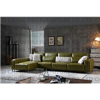 Modern Living Room Real Leather Sofa L Shaped Sofa