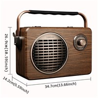 LuguLake Handheld Multi-Function Bluetooth Speaker PA System with Power Bass, FM Radio, Mic Input, USB/TF Readers, Remot