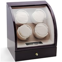 CHIYODA 4 Piece Watch Winder Quad Watch Winder with Quiet Mabuchi Motor, LCD Digital Display Independent Control