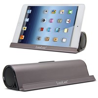 LuguLake Portable Speaker with Stand, 6W Dual-Driver for Calls for iPhone, iPod, iPad, Samsung, Echo, LG & Others