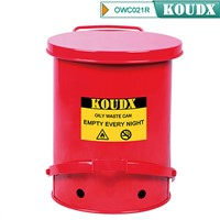 KOUDX OILY WASTE CAN RED or YELLOW