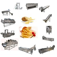 Industrial Automatic Potato Chips Making Machine Production Line for Sale