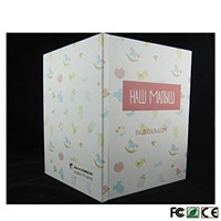 "LCD Digital Screen Greeting Card Customized Video Memory Brochure 7"" Screen, HD for Wedding, Keepsakes, Invites, Enterpr"
