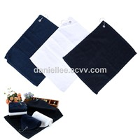 2018 New Design Hot Selling Genuine 100% Cotton or Microfiber Fabric Golf Towel