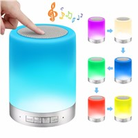 Dimmable Speaker Wireless Bluetooth LED Night Light with Bluetooth Speaker for Camping