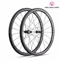 UCI Rolling Stone Bicycle Wheels Rear Front High TG Carbon Wheelset 700C Clincher 40mm Aero Rim Road Bike Wheel Set 1580