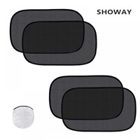 "Showay Car Sun Shade - 20"" x 12"" Cling Car Mesh Shade for Side & Rear Window"