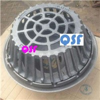 "15 1/4"" Large Sump Cast Iron Roof Drain with No Hub Outlet for Roof Drainage"