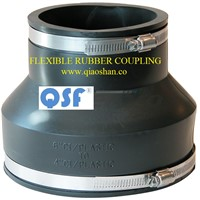"1 1/2"" to 8"" Flexible Rubber Coupling for CI/Plastic to CI/Plastic Connection"