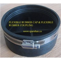 Flexible Rubber End Cap with Stainless Steel Clamp for No Hub Pipe Connection