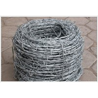 PVC Coated / Galvanized Barbed Wire Fence Mesh