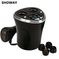 SHOWAY Wireless Tire Pressure Monitoring Systems with 4 External Cap Sensors